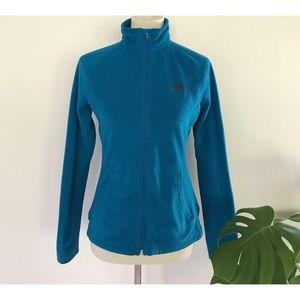 EUC North Face Full Zip Fleece Turquoise Jacket S